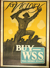 WW1 ORIGINAL poster For Victory Buy W.S.S. Rhode Island contest prize winner