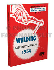 1954 Pontiac Chieftain Fisher Body Welding Assembly Manual Book