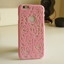 ROSE FLOWER THIN VINTAGE HARD BACK CASE COVER FOR IPHONE 4 4S 5 5S 5C 6 FREE SCR