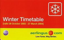 Aer Lingus Timetable  October 26, 2003 =