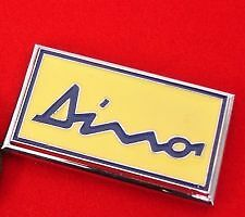 FERRARI DINO CHROME & ENAMEL BONNET BADGE FABULOUS QUALITY.