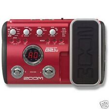 ZOOM B2.1U guitare basse multi effets pédale processeur & power supply