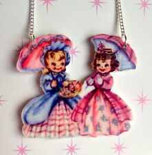 KITSCH CUTE KAWAII DOLLYKEI VINTAGE STYLE LOLITA CHARM LASERCUT NECKLACE