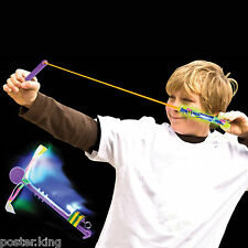 LED Flash Flying Light Up Airplane Flight Rubberband Elastic Funny Kids Toy 1pc