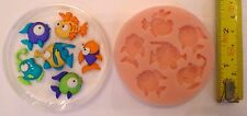 FUNNY FISH SILICONE MOULD FOR CAKE TOPPERS, CHOCOLATE, CLAY ETC