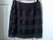 Phase Eight charcoal satin ruffle/layered occasion skirt,size 16