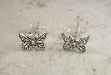 1 CUTE PAIR OF STERLING SILVER BUTTERFLY STUD EARRINGS  style# st117