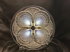 "R Lalique Opalescent Coquilles Shell Art Glass 10 "" Signed Footed Plate ca.1924"