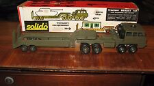 Solido French toy Berliet T12 Transport Truck and Trailer all terrain suspension