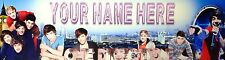 """FREE """"ONE DIRECTION"""" PERSONALIZED W/NAME PRINT,  ART/POSTER/BANNER  30""""X8.5"""""""