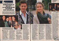 Coupure de presse Clipping 1986 Emmanuelle Béart & Daniel Auteuil (2 pages)