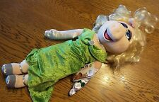 """20"""" NWT DISNEY SESAME STREET MUPPETS MOST WANTED MISS PIGGY SEXY HAIR PLUSH DOLL"""