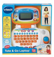 NEW VTech Tote and Go Laptop Educational Kids Toy Learning Activities Fun Orange