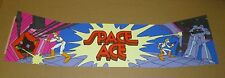 Space Ace Upright Arcade Game Marquee Overlay, Screen Printed, Cinematronics
