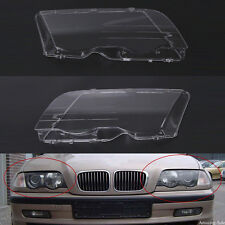 Pair L&R Headlight Headlamp Lense Clear Lens Cover For BMW E46 3 Series 1998-01