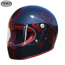 Casco Integrale Premier TROPHY NX RED CHROMED taglia M Cafe racer