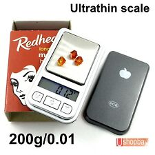 Mini Jewelry Digital Pocket Scale Ultrathin 200gm/0.01