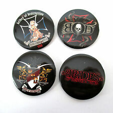 BRIDES OF DESTRUCTION - 4 PACK LOGO BUTTONS - NEW OFFICIAL BAND MOTLEY CRUE