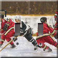 HOCKEY MODEL 3 DOUBLE LIGHT SWITCH PLATE COVER