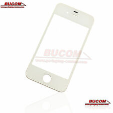 Para Apple iPhone 4 4s pantalla vidrio cristal Glass LCD Window frontglass blanco