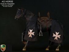 "ACI 1/6 Scale 12"" Black War Horse for Knight Hospitaller Action Figure ACIH01"