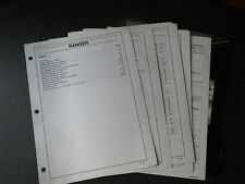 1989 FORD RANGER DEALER FACTS ALBUM BROCHURE SHEETS SET