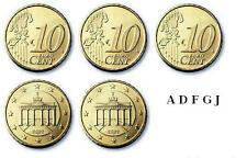 5 x 10 Euro Cent Kursmünzen BRD Deutschland 2012 ( ADFGJ ) stempelglanz