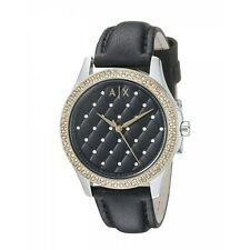 **NEW**LADIES ARMANI EXCHANGE AX BLACK GOLD CRYSTAL WATCH - AX5246 - RRP £139