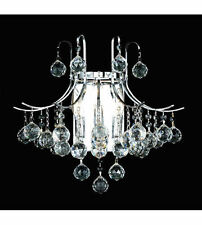 World Crystal contour 3 Light Crystal Chandelier Wall Light  Chrome