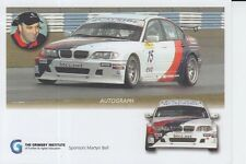 Martyn Bell BMW Promo Card Touring Cars.