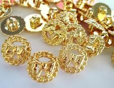 30 Gold Ribbon Bow & Wreath Design Golden Sewing Buttons/shank/fashion/girl B142