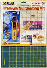 "Olfa Quiltmaking Kit Includes 12""x18"" Self Healing Mat, 6""x6""Ruler & 45mm Cutter"