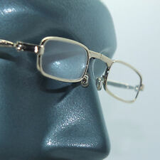 Folding Reading Glasses Petite Small Gold Frame Lightweight Lens Strength +1.75