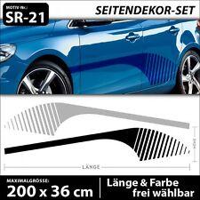 Rennsport Seitenstreifen Aufkleber Racing Cartattoo Seitenaufkleber XXL . SR-21
