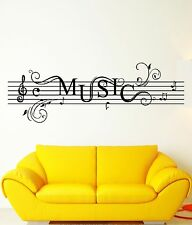 Wall Stickers Vinyl Decal Music Notes Rock`n`Roll For Living Room (z1734)