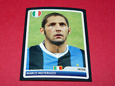 128 MARCO MATERAZZI INTER MILAN UEFA PANINI FOOTBALL CHAMPIONS LEAGUE 2006 2007