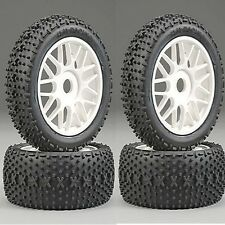 Ofna 86506 X-Dash Tires Mounted 17mm White Wheels (4) 1/8 Buggy