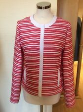 Gerry Weber Jacket Size 10 BNWT Coral And Cream Striped RRP £150 NOW £67