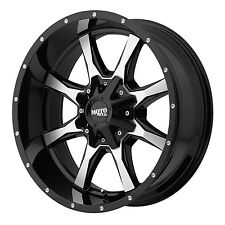 20x10 BLACK rims MOTO METAL 970 1990-2017 LIFTED CHEVY GMC 1500 6x5.5 -24mm