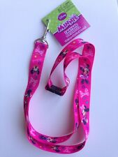 "Disney Minnie Mouse Lanyard ID Holder Keychain 18.5"" NEW"