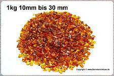 Amaro campi natura Bernstein getrommelt, 1 kg in dimensione 10 a 30mm