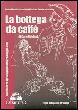 cartolina pubblicitaria PROMOCARD n.2326 LA BOTTEGA DEL CAFFE' TEATRO OLMETTO MI