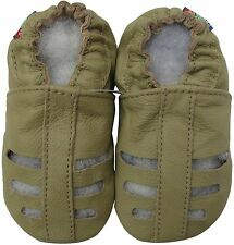 shoeszoo soft sole leather toddler sandals grey 2-3t
