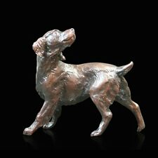 Small Springer Spaniel Dog Bronze Foundry Cast Sculpture Michael Simpson (825)