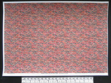 O gauge (1:48 scale) multi-colour brick (with age) -  self adhesive vinyl - A4