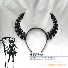 1pc 23cm Anime Black Rock Shooter Dead Master Ox Horn Headwear Hair Pin Cosplay