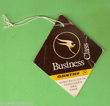 #D180. QANTAS BUSINESS CLASS CABIN BAGGAGE LABEL TAG
