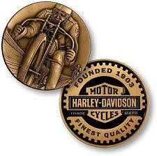 Harley Davidson Vintage Logo / Harley Racer - Bronze Antique Challenge Coin