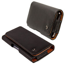 Horizontal PU Leather Pouch Belt Clip Case For iPhone 6s / Samsung Galaxy S7