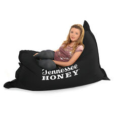 Indoor/Outdoor 'Jack Daniels' XXL Giant Bean Bag With Plain Black Reverse